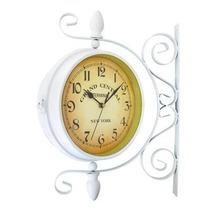Relógio De Parede Dupla Face Diâmetro: 20 Cm