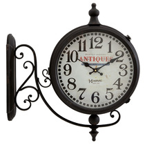 6428 - Relógio Parede Gigante 2 Duas Dupla Face Estação Herw