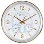 6327 - Relógio Parede Sweep 34cm Termômetro Higrômetr Herweg