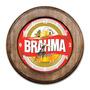 Relógio Brahma Chopp Com Moldura De Madeira