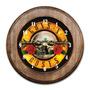 Relógio Guns N Roses Com Moldura De Madeira