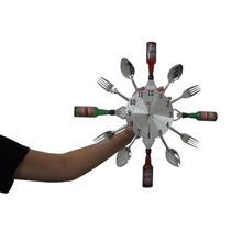 Relogio De Parede Talheres Cozinha Decorativa Hora