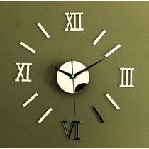 Relógio De Parede Grande Espelho Decorativo Sala Cozinha