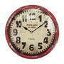 Relógio De Parede Paris 1885 Vermelho Em Ferro Oldway