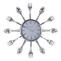 Relógio De Parede Cozinha Em Formato De Talheres Decorativo