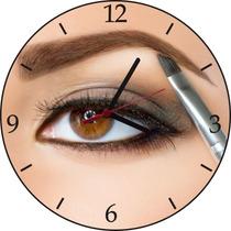 Relógio De Parede Em Vinil, Salão De Beleza, Sombrancelha