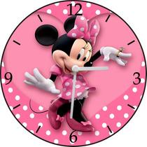 Relógio De Parede Em Vinil, Minnie Mouse, Disney