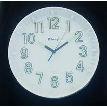 Relógio De Parede Fluorescente Que Brilha No Escuro