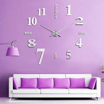 Relógio De Parede Criativo 3d Acrílico Gigante Pronta Entreg