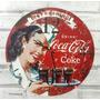 Relógio De Parede Em Madeira Mdf Coca Cola Pin Up