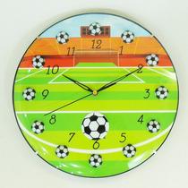 Relógio De Parede Estádio Futebol Bola Chuteira Menino Bebê