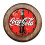Relógio Enjoy Coca-cola Com Moldura De Madeira