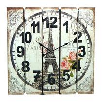 Relógio De Parede Quadrado Classic Paris