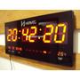 Relógio De Parede Digital Com Leds Elétrico 110/220 Herweg