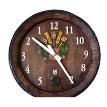 Barril Relógio Decorativo Anti-horário Grande