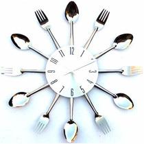 Relógio De Parede Gourmet - Talheres