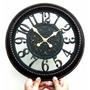 Relógio De Parede Retro Vintage Gigante Decoração Móveis