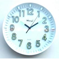 Relógio De Parede Que Brilha Muito No Escuro Fluorescente