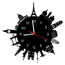 Relógio De Parede Decorativo Mundo Com 28 Cm (11557)