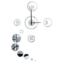 Relógio Decorativo Espelhado Bolas Fixo 1,20 M (11567)