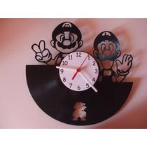 Relógio De Parede - Disco De Vinil - Super Mario Bros