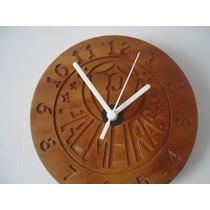 Relógio De Parede Rústico Em Madeira Do Palmeiras