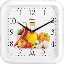 660001 - Relógio Parede 23 Cm Cozinha Branco Herweg