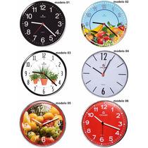 1 Relógio De Parede Decorativo Sala Cozinha Original Haller