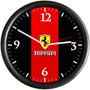 Relógio De Parede Decorativo Ferrari Promoção Barato