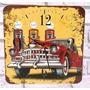 Relógio De Parede Em Madeira Mdf Carro Antigo Retrô Vintage