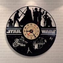 Star Wars Vários - Relógio De Parede - Disco De Vinil