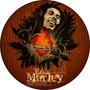 Quadro Personalizado Em Disco De Vinil, Bob Marley, Reguee