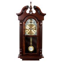Relógio De Parede Carrilhão Madeira Cordas Herweg - 5355