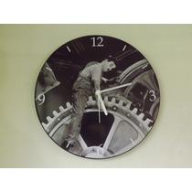 Relógio De Parede Em Vinil, Charles Chaplin