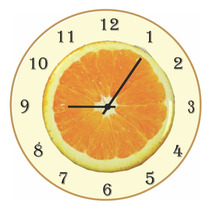 Relógio De Parede - Laranja - Vintage - Rústico - Cozinha
