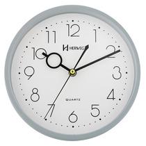 6316 - Relógio Parede Cinza 23 Cm Herweg 1 Ano Garantia