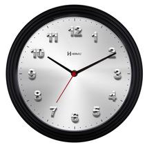 6617 - Relógio De Parede Branco Ou Preto 28 Cm Herweg