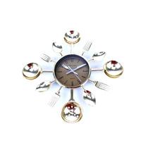 Relógio De Parede Para Cozinha Formato De Talheres F/gratis