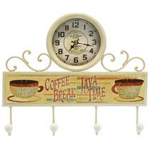 6424 - Relógio De Parede Retrô Cozinha Cafe Aço Novo Herweg