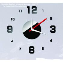 Relógio De Parede Espelho Sala Quarto Cozinha Diy