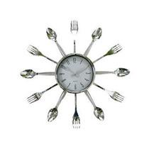 Relógio De Parede À Quartz Decorativo Para Cozinha Talheres