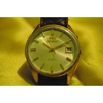 Relógio Orient Social Clássico - Folheado A Ouro
