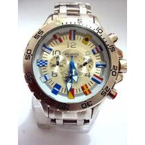 Relógio Atlantis Flags - Estilo Rolex - Em Aço - Leilão
