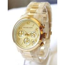 Relógio Michael Kors Mk5139 Madrepérola Com Caixa E Manual.
