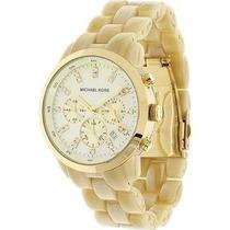 Relógio Michael Kors Mk5217 Madrepérola E Dourado 12 X S/jur