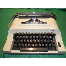 Máquina De Escrever Remington 15 - Ótimo Estado