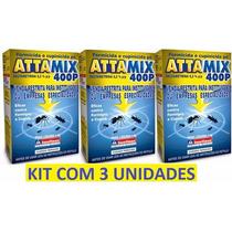 Veneno Mata Formiga - Pó - Attamix - Formicida - Kit Com 3