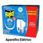 Aparelho Raid Elétrico+ Refil Mosquito Dengue E Pernilongos