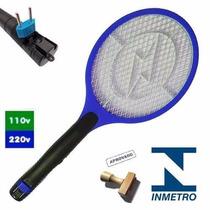 Raquete Elétrica Bi-volt Mata Mosquito Moscas Garantia 1 Ano