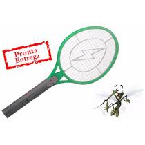 5 Raquete Elétrica Recarregável Bi-volt Mata Mosquito Mosca